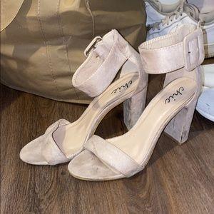 Suede pink heels